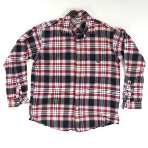 Cinch Mens Long Sleeve red plaid size large